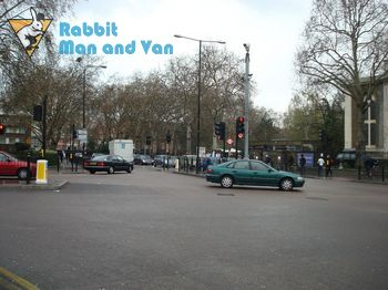 Punctual man and van in Cambridge Heath