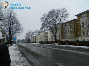 Camden Road, London, in winter